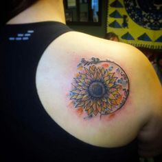 Sunflower Tattoo by Ray V