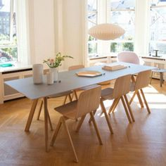 Hay House Copenhagen - I like these interios - Hay House Copenhagen decdesignecasa. Dining Room Design, Dining Area, Dining Table, Sweet Home, Home Fashion, Home And Living, Living Room, Interior Inspiration, Home Furniture