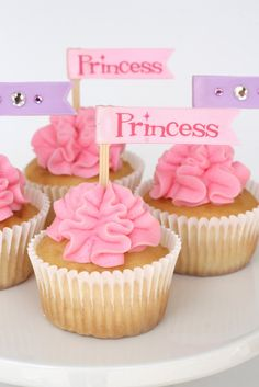 Glorious Treats: Princess Cupcakes with Ruffled Frosting