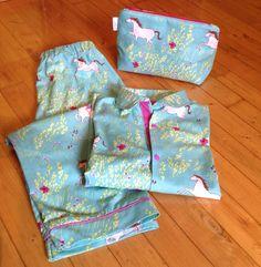 Pyjama uit het grote naaiboek femma.  Stof: michael miller summer ride