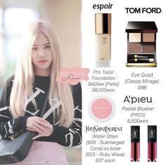 Eye Candy Makeup, Glam Makeup, Makeup Kit, Blackpink Fashion, Kpop Fashion Outfits, Korean Fashion, K Pop, Ulzzang Makeup Tutorial, Makeup Storage Organization