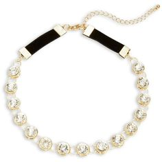 Robert Rose Faceted Rhinestone Choker Necklace ($20) ❤ liked on Polyvore featuring jewelry, necklaces, gold, rhinestone jewelry, glitter necklace, choker jewelry, glitter jewelry and rhinestone choker