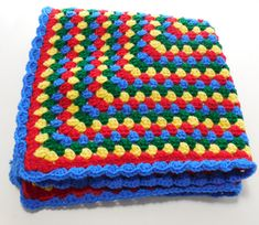 Crochet Baby Blanket Baby Foot Prints Reversible by GabbysQuilts