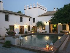 "Arcos de la Frontera villa rental - his Spanish villa has an amazing history. The ""Fain Viejo"" has been an Arab fortress, a monastery, an olive mill, and is now a splendid country home. It's the perfect setting for a wedding or any special event!"