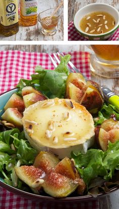 Fig Recipes, Veggie Recipes, Real Food Recipes, Salad Recipes, Gourmet Appetizers, Appetizer Salads, Healthy Diet Recipes, Healthy Foods To Eat, Aperitivos Finger Food