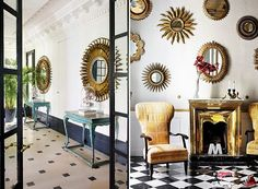 Starburst mirrors - home decor