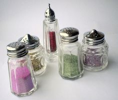 put glitter in shakers