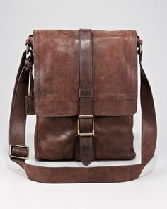 Frye Logan Leather Messenger Bag, Small - Neiman Marcus