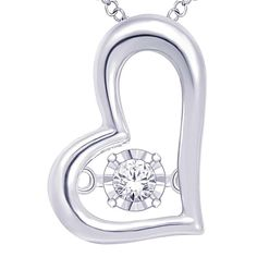 Color G-H Clarity I2 Wickersham Closeouts Sterling Silver 1//20 Cttw Diamond Mother And Child Pendant