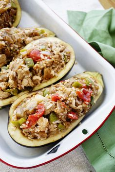 Pork Stuff Eggplant Boats and How to be Kind to Yourself