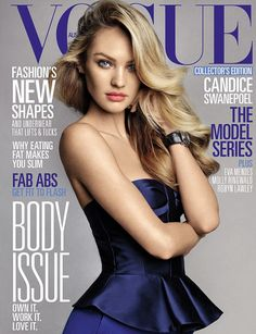 OUR own Candice Swanepoel, The Victoria's Secret Angel looked elegant for the cover of the magazine, sporting a chic peplum blouse