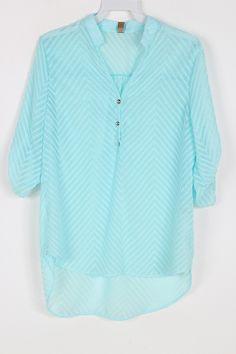 Chevron Chiffon Shirt.