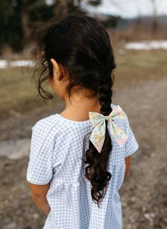 """Click to shop handcrafted hair bows by Wunderkin Co. The perfect hair bow to embolden your baby's, toddler's or little girls free spirit and individual style. Handmade by moms in the USA and guaranteed for life. """"Lucie"""" Liberty of London Sailor Bow."""