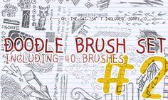 Doodle brush set 2 by castelfranca.deviantart.com on @DeviantArt