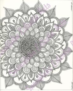 DIY COLORING Page -  Instant PDF Digital Download - Printable Coloring Page - Sunflower - Adults - Children