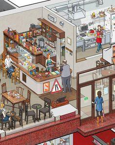 Art. Lebedev Studio's Big Café on Behance