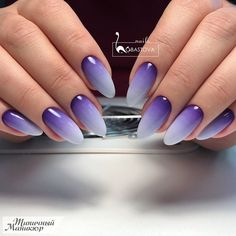 What Christmas manicure to choose for a festive mood - My Nails Purple Ombre Nails, Pink Nails, My Nails, Purple Manicure, Purple Glitter, Gel Nail Art Designs, Ombre Nail Designs, Cute Nails, Pretty Nails