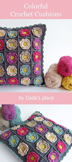 ideas crochet dishcloth patterns free link for 2019 Crochet Puff Flower, Crochet Flower Patterns, Crochet Designs, Knitting Patterns Free, Crochet Flowers, Pattern Flower, Crochet Leaves, Free Pattern, Crochet Cushion Cover