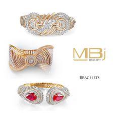 Diamond bracelets from MBj.