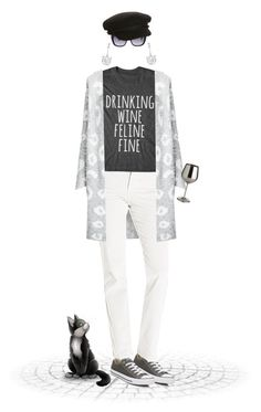 """""""Drinking Wine Feline Fine"""" by joy2thahworld ❤ liked on Polyvore featuring Converse, Vince Camuto, NYDJ, Pier 1 Imports, Bling Jewelry, Marc by Marc Jacobs, Billabong and statementtshirt"""