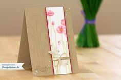 Geburtstagskarte - Pleasant Poppies - ♥ Stempelwiese
