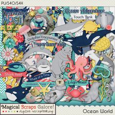 {Ocean World} Digital Scrapbook Kit by Magical Scraps Galore available at Gingerscraps and Scraps-N-Pieces http://store.gingerscraps.net/Ocean-World.html http://www.scraps-n-pieces.com/store/index.php?main_page=product_info&cPath=66_152&products_id=9667 #magicalscrapsgalore