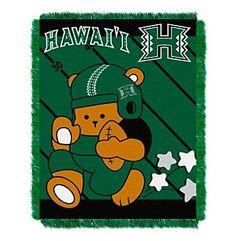 NCAA® University of Hawaii Baby Jacquard Fullback Throw
