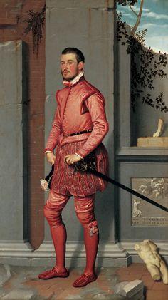 Gian Gerolamo Grumelli, c. 1560,  Giovanni Battista Moroni,  Oil on canvas. 216 x 123 cm. /  Fondazione Museo di Palazzo Moroni - Lucretia Moroni Collection, Bergamo.