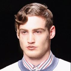 Guy with fingerwave hairstyle! Looks hot!