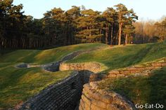 First World War trenches at Vimy Ridge National Historic Site of Canada.