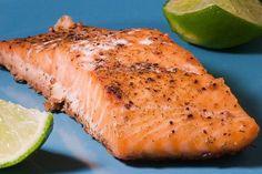 Foto de la receta de salmón rosado al horno
