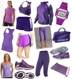 I live workout gear... But when it's one of my favorite colors... It's even better (: purple all the way  ahhh I want all these PURPLE <3