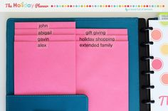 How to organize your holidays!!