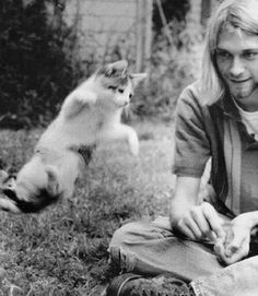 Kurt Cobain and ninja cat