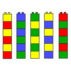 Opdrachtkaart Lego of Duplo Toddler Learning Activities, Montessori Activities, Educational Activities, Kids Learning, Activities For Kids, Preschool Colors, Simple Math, Card Patterns, Lego Duplo