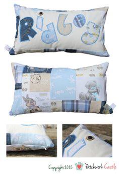 Personalised Keepsake Memory Patchwork Cushion - Name