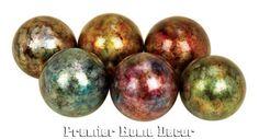 Tuscan St/6 Ceramic Multi Colored Decorative Balls