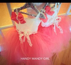 "The ""Arianna"" dress- coral tutu skirt with lace top and a fancy lace bow and pearls-fairy costume -flower girl by HandyMandyGirl on Etsy"