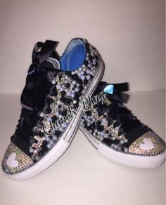 812e85bc60d5f 36 Best Birthday shoes bedazzled bling converse All Star Chuck ...