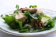 Chicken Apple Arugula Goat Cheese Salad (photo)