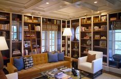 BOOKCASE DECOR Even in large homes meant for entertaining and filling with friends and family, it is those tiny spaces that still tend to capture our hearts the most. We can't decide if the library ladders, incredible architectural details or being surrounded by books are our favorite things about this space! InGoodTaste:PolhemusSaveryDaSilva