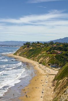 Hendry's Beach, Santa Barbara, California. More California Dreaming: http://www.zazzle.com/thenaughtynook/gifts?cg=196724005075615895&rf=238479042766184488 http://www.cafepress.com/thenaughtynook/9990953 Coastline with waves and beach.