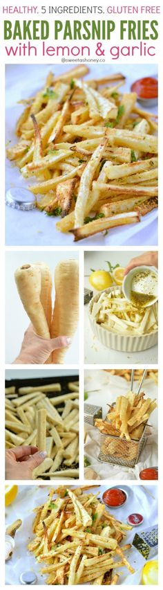 Healthy Crispy Baked Parsnip Fries. Vegan. Low Carb. Homemade fries recipe perfect if you are on diet and want to enjoy some crispy healthy fries. Clean eating approved.