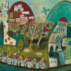 Elodie Nouhen Illustration Art, Art Illustrations, Advent Calendar, Christmas Tree, Holiday Decor, Illustrator, Heaven, Inspire, Paintings