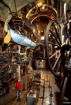 Mercer Museum, Doylestown PA one of three buildings that form the legacy of…