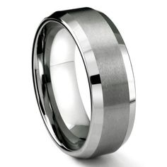 Bridal & Wedding Party Jewelry Titanium Cross Religious Design Flat 8mm Brushed Wedding Ring Band Size 10.50 Relieving Rheumatism
