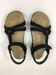 48dff5888ed7a Details about Womens Teva Ventura Cork Sport Sandals Black Tan Style 6389  ankle straps Size 7
