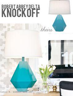 sarah m. dorsey designs: Robert Abbey Delta Lamp Knockoff