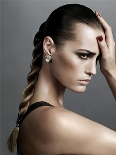 Yasmin Le Bon with '90's braid - She is almost 50 and still amazingly beautiful!