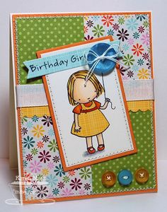 Paper Playhouse: Birthday Girl - featuring My Favorite Things and Buttons Galore and more products. #buttons #stamps #crafts